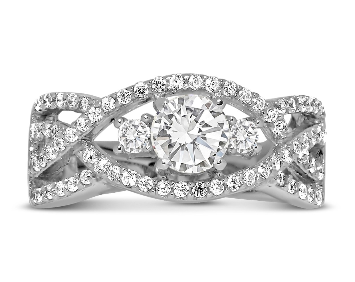 68354b4c9 Perfect Designer 1 carat Round Diamond Engagement Ring for Women in White  Gold.