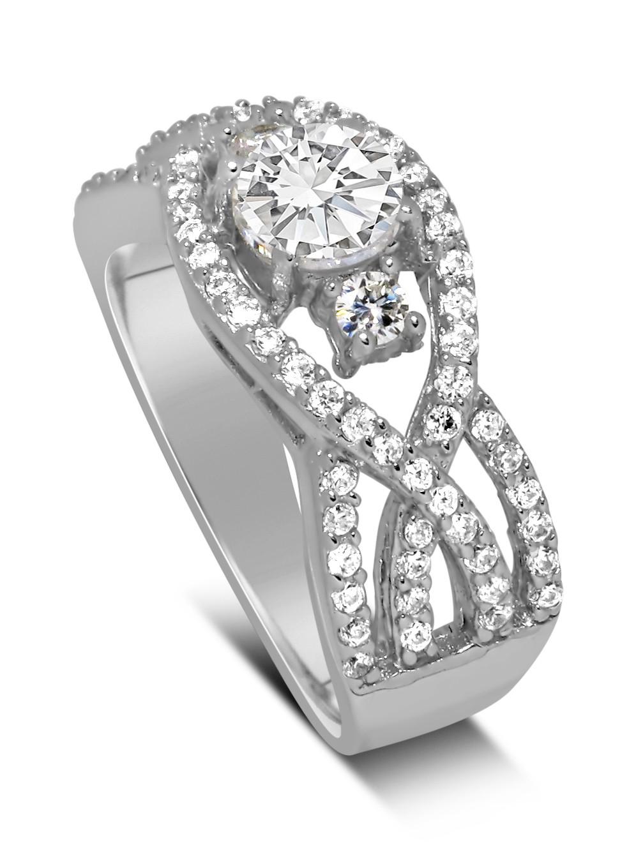 Perfect Designer 1 carat Round Diamond Engagement Ring for Women ...