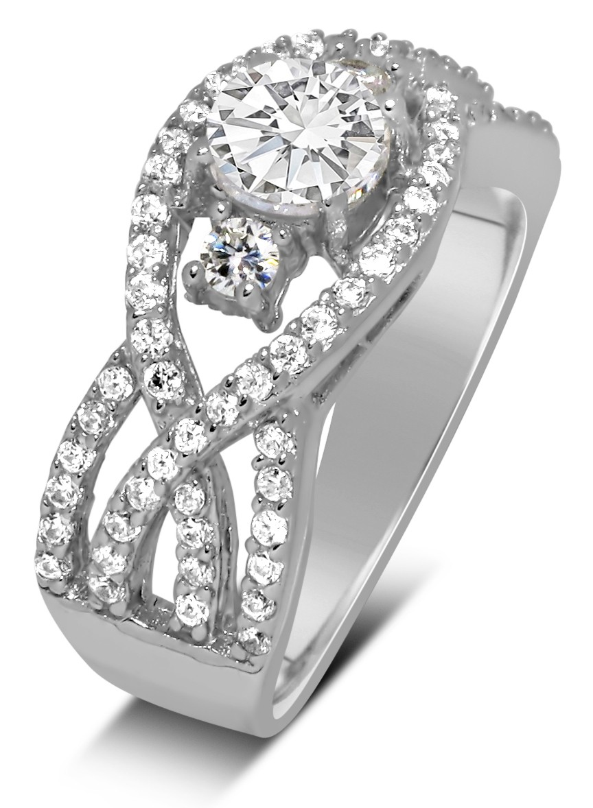 4205b6ca3 ... Perfect Designer 1 carat Round Diamond Engagement Ring for Women in  White Gold ...
