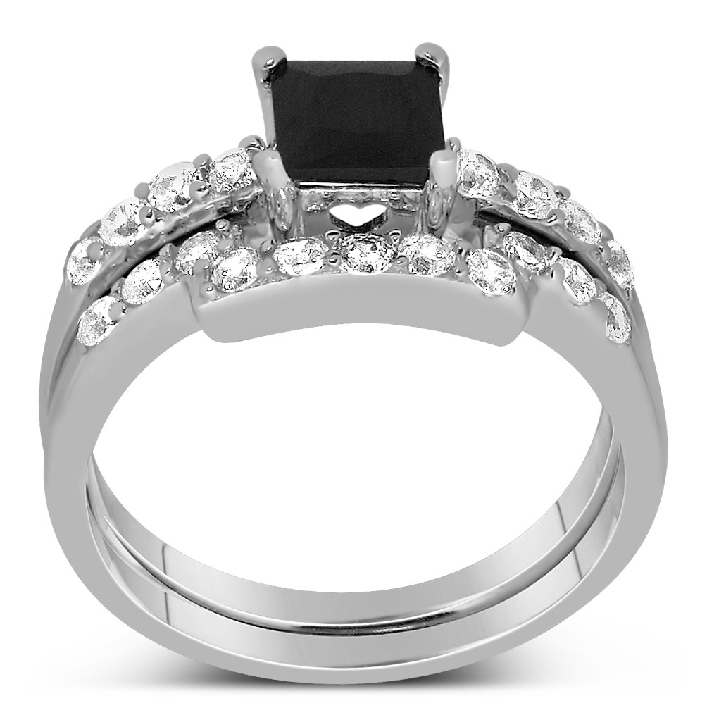 Luxurious 150 Carat Princess cut Black and White Diamond Wedding