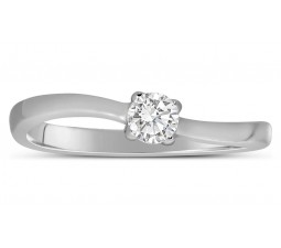 Affordable 1/4 Carat Round Solitaire Diamond Engagement Ring in White Gold