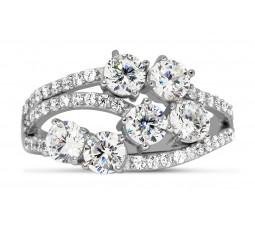 Unique 2 Carat Round Diamond Ring for Women