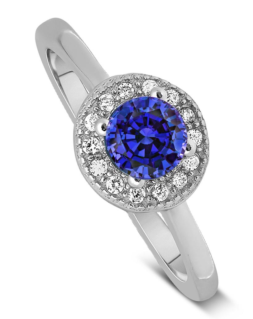 unique 1 50 carat halo sapphire and engagement