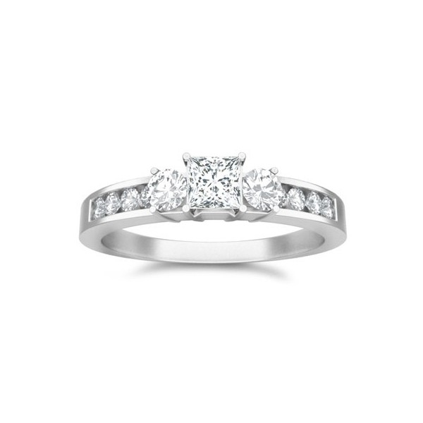 Stone Wedding Rings Engagement Rings Diamond Rings Three Stone Diamond Engagement Ring On