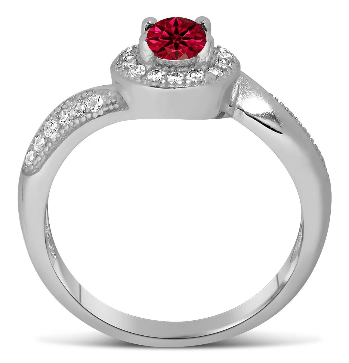 Antique Designer 1 Carat Red Ruby And Diamond Engagement