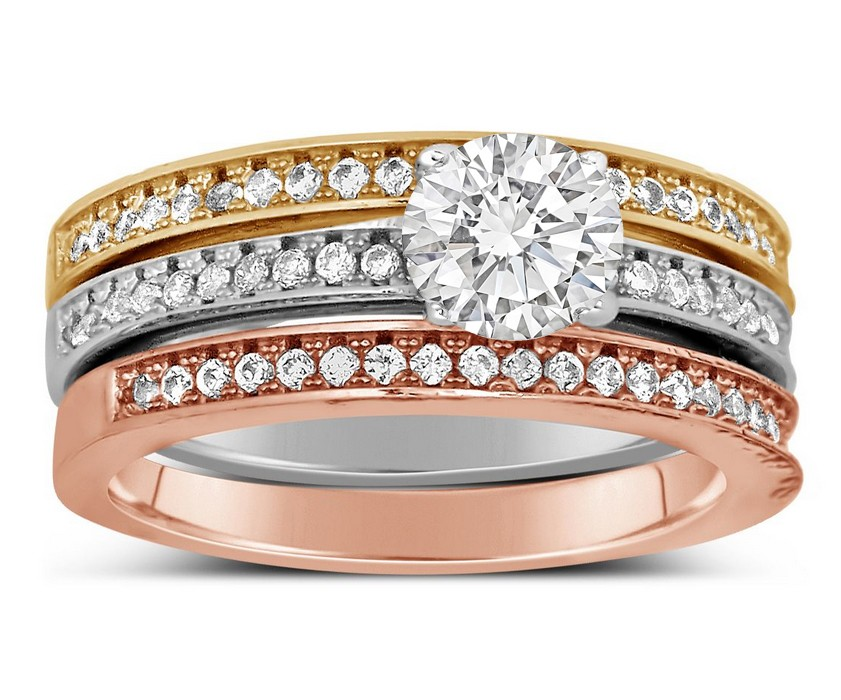 color engagement ring barkev s tri rings wedding