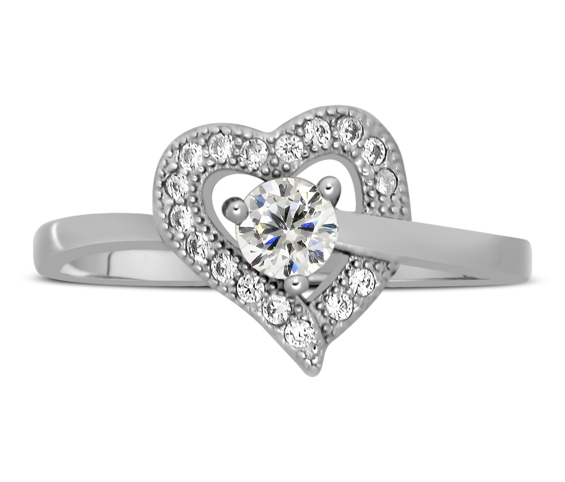 ring pear center shape stone engagement diamond stones heart three ct in white with sides side platinum