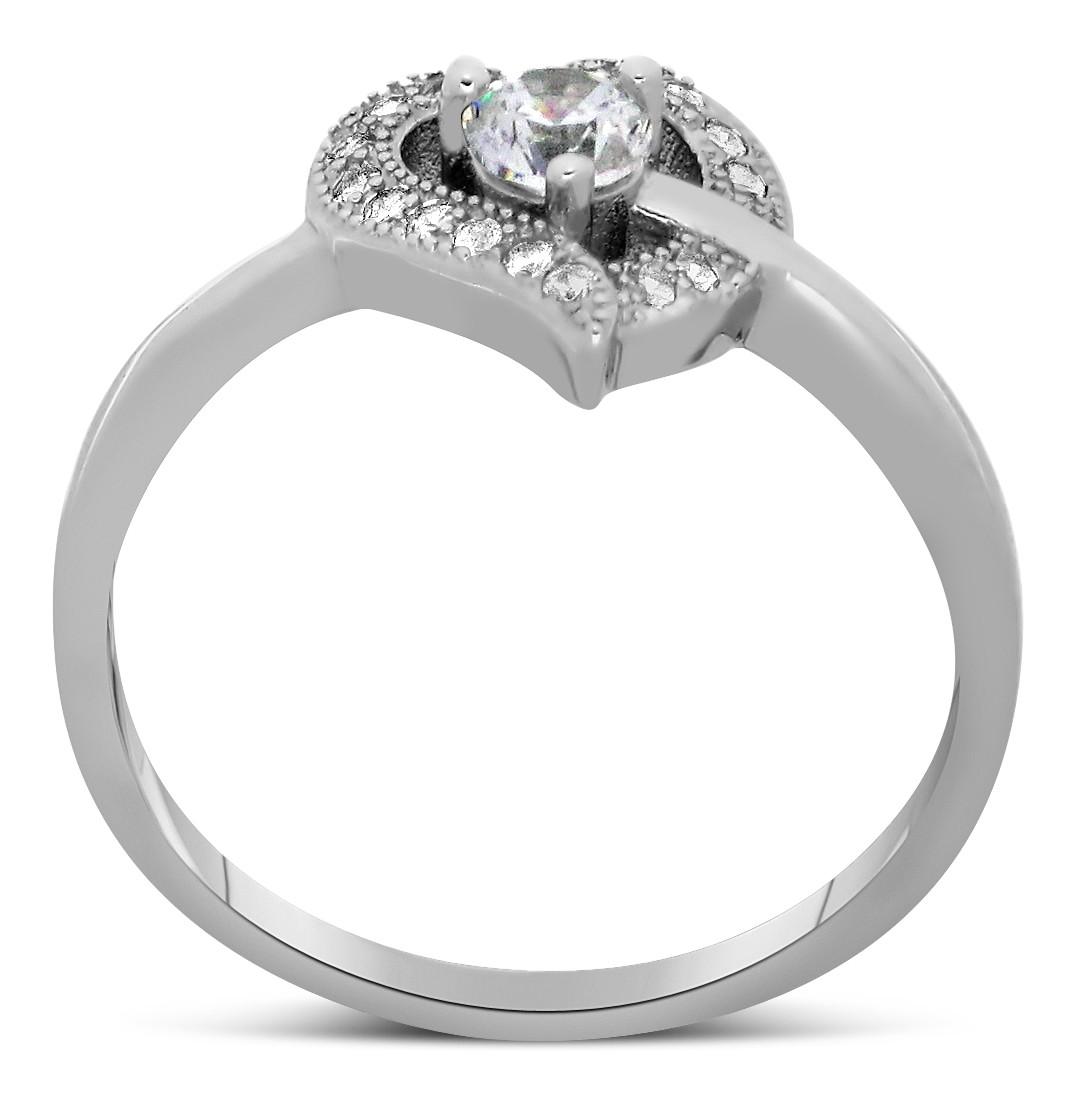 Half Carat Heart Shape Round Diamond Engagement Ring In
