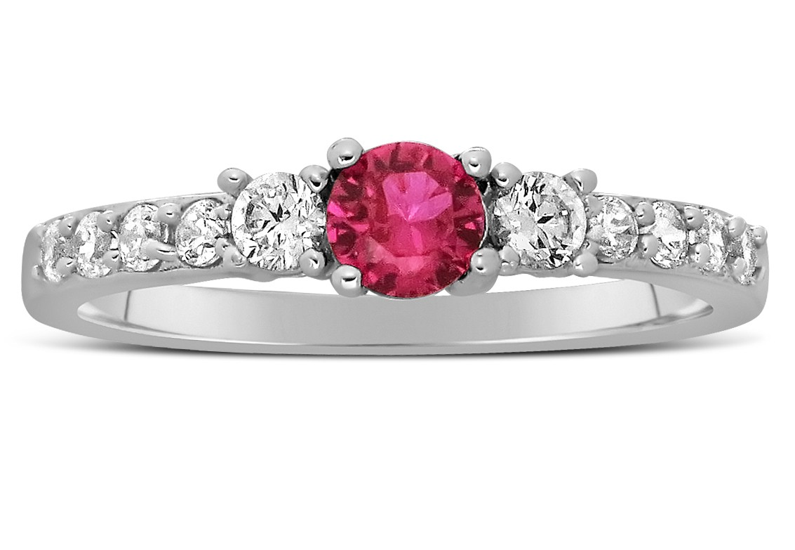 Pink sapphire wedding ring inspiration navokalcom for Pink diamond wedding rings