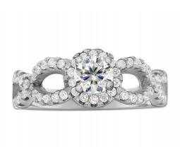 1 Carat Round Infinity Wedding Ring Set in White Gold