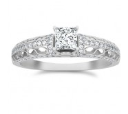 Designer Diamond Engagement Ring On