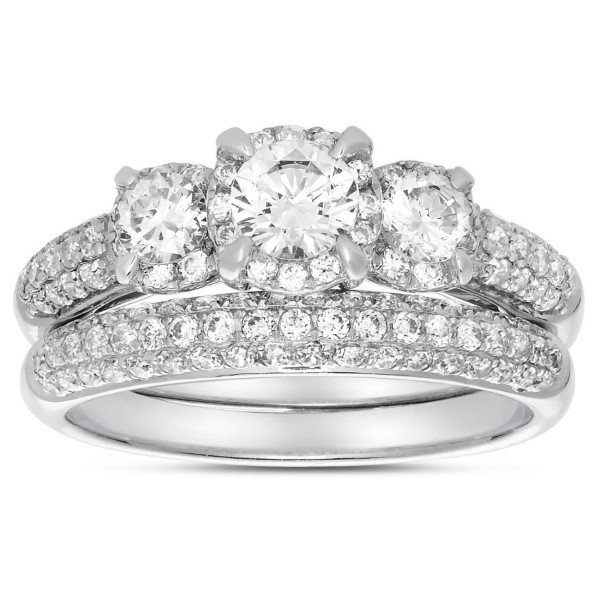 round diamond wedding ring set in white gold for women jeenjewels
