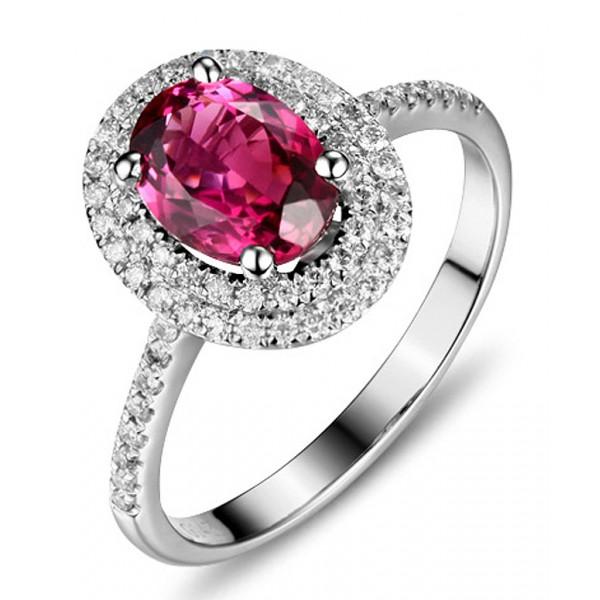 Diamond Rings For Sale Walmart: 2.50 Carat Pink Sapphire And Diamond Double Halo Classic