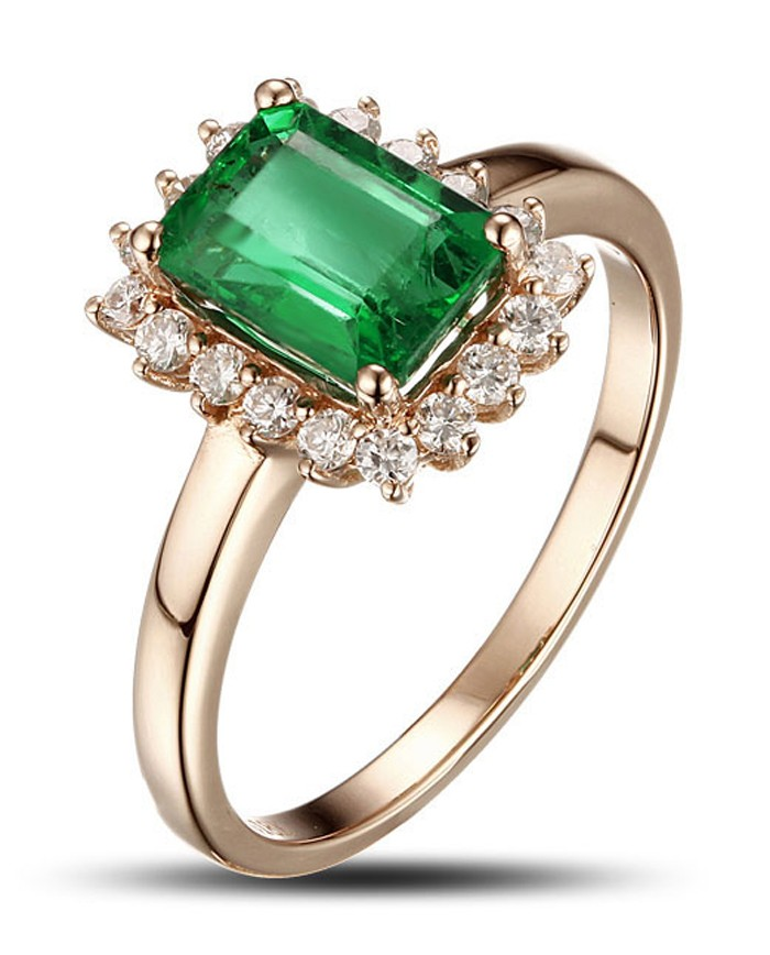 1 25 carat emerald and engagement ring in yellow