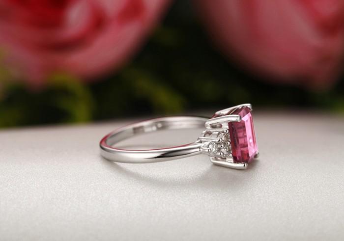 Carat Emerald Cut Diamond Solitaire Engagement Ring
