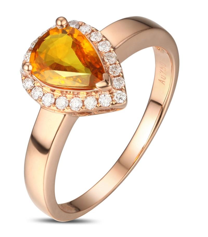 elegant 1 carat pear cut yellow sapphire and diamond halo. Black Bedroom Furniture Sets. Home Design Ideas
