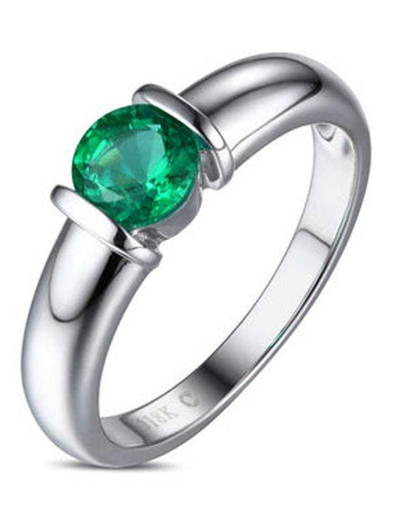cut product jewellery solid diamond carat silver engagement synthetic sterling emerald ring genuine amazing