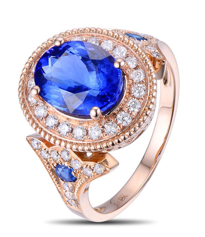 Designer Luxurious 250 Carat Sapphire and Diamond Engagement Ring