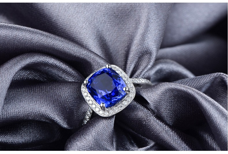 Antique 1 50 Carat Cushion Cut Sapphire And Diamond Halo