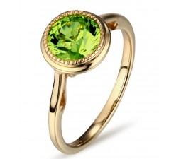 Designer bezel set 1 Carat Emerald Solitaire Gemstone Engagement Ring in Yellow Gold