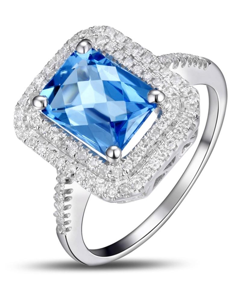 designer 2 carat emerald cut sapphire and diamond double. Black Bedroom Furniture Sets. Home Design Ideas