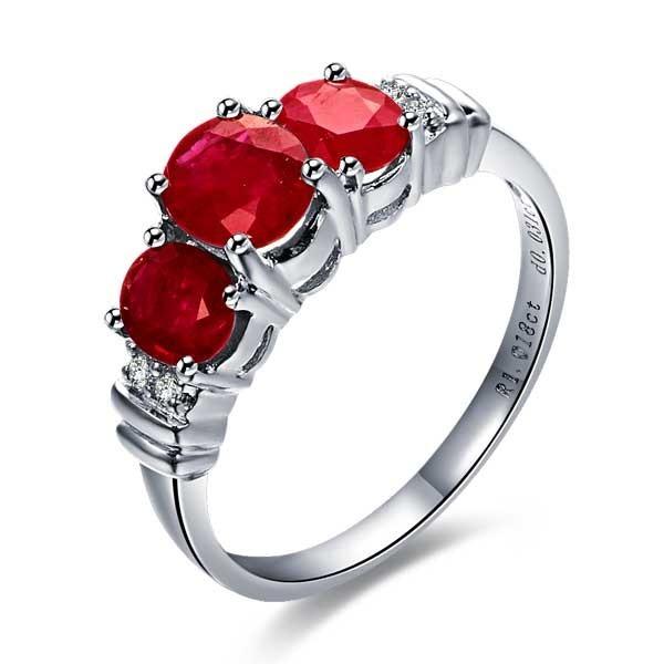 10k Gold Wedding Rings 43 Spectacular White gold ruby diamond