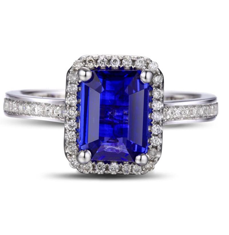 antique carat emerald cut blue sapphire and diamond. Black Bedroom Furniture Sets. Home Design Ideas
