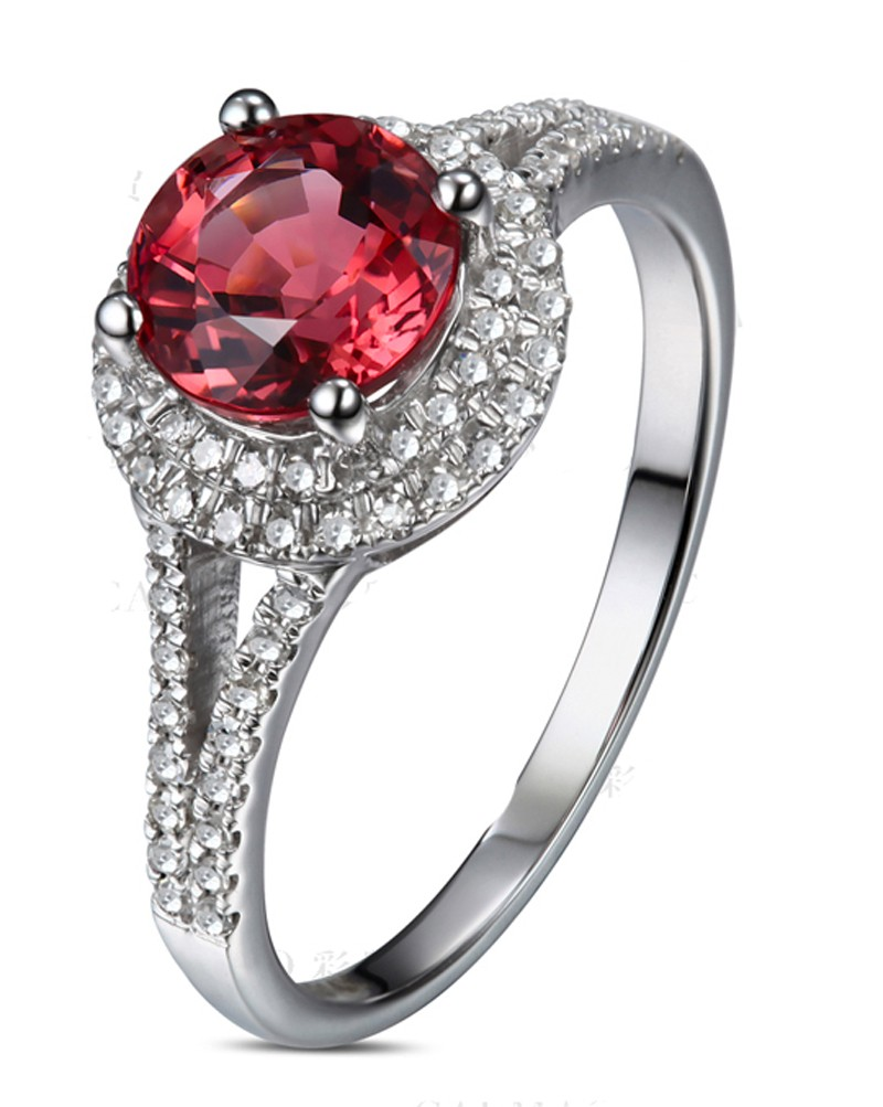 ring ruby red designer set gold emerald diamond rings halo carat wedding and cushion white on engagement cut