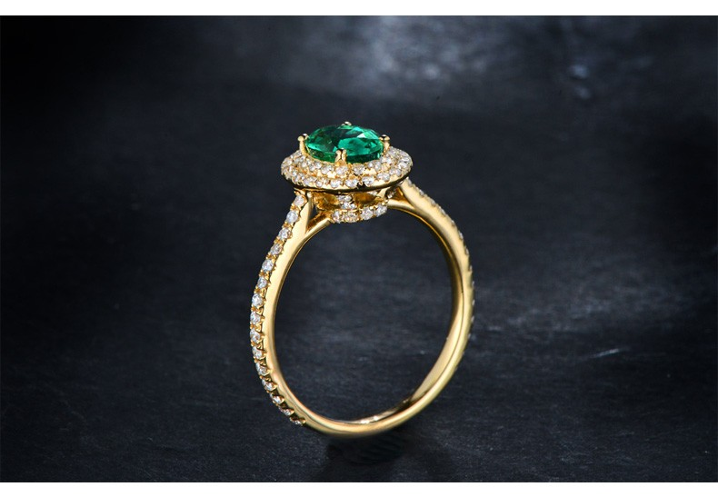 Vintage 2 Carat Emerald And Diamond Double Halo Engagement
