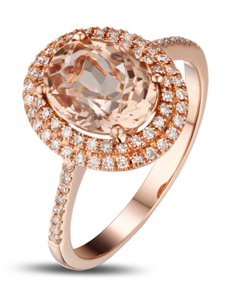 luxurious carat morganite and diamond engagement ring. Black Bedroom Furniture Sets. Home Design Ideas