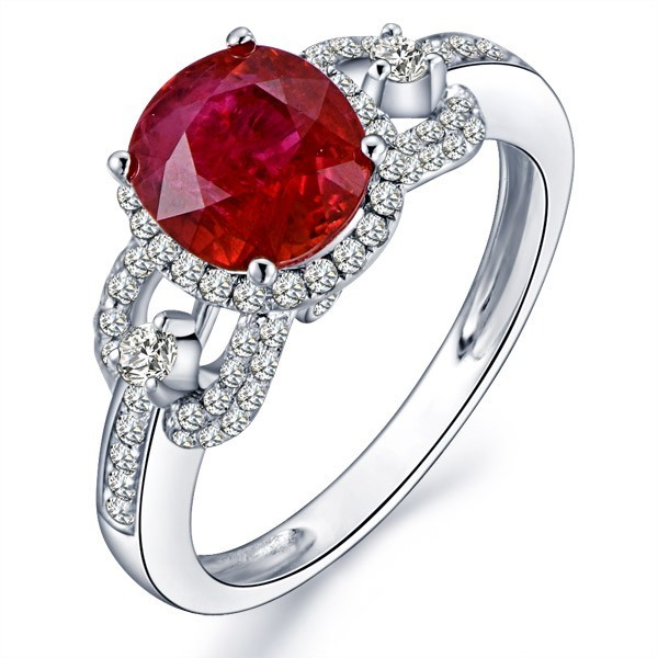Marvelous ruby and diamond engagement ring jeenjewels marvelous ruby and diamond engagement ring junglespirit Image collections