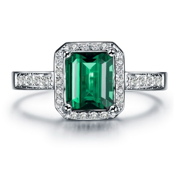 classic 150 carat emerald and diamond engagement ring in