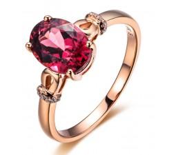 1.50 Carat Pink Sapphire and Diamond Designer Gemstone Engagement Ring in Rose Gold