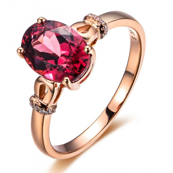 1.50 Carat Pink Sapphire and Diamond Designer Gemstone Engagement Ring in Rose Gold