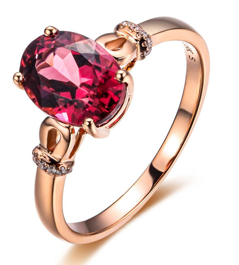 pink secondhand ring stone rings diamond gold sapphire single