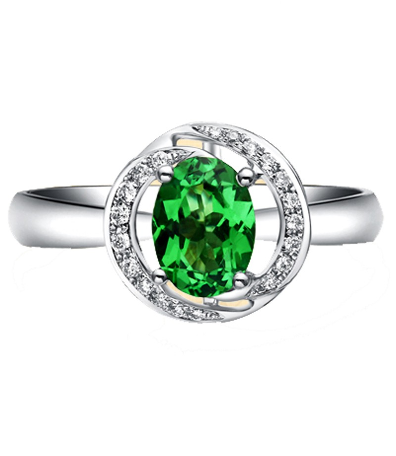 unique 1 carat emerald and halo engagement ring
