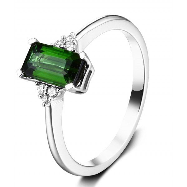 1 50 carat green emerald and engagement ring for