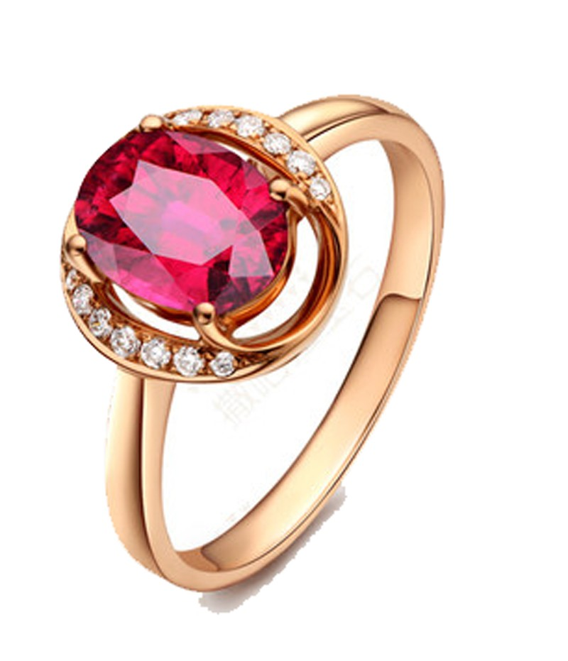Designer 1 25 Carat Ruby And Diamond Unique Halo Engagemnet Ring In Yellow Gold