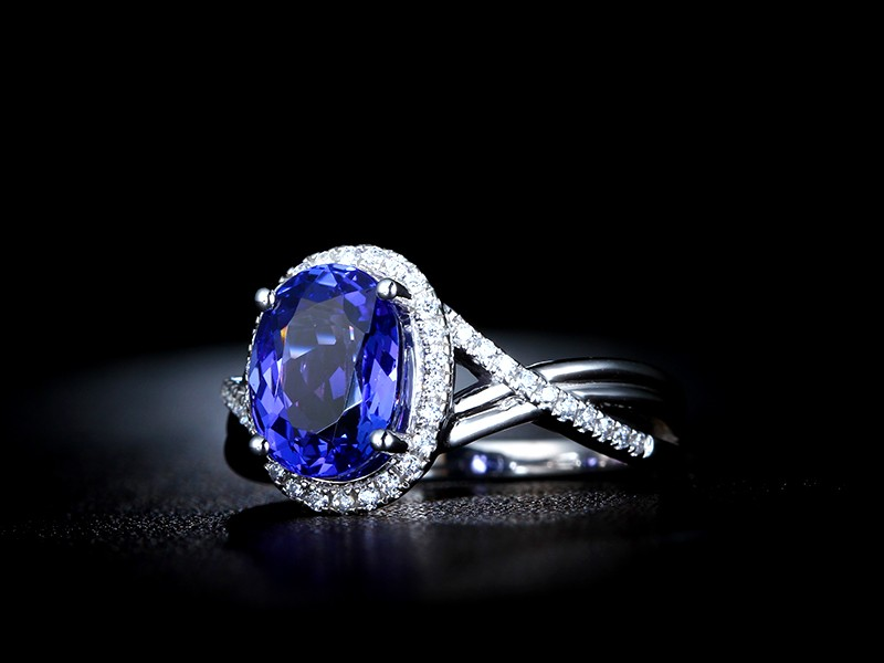 Inexpensive 1 50 Carat Blue Sapphire And Diamond Infinity