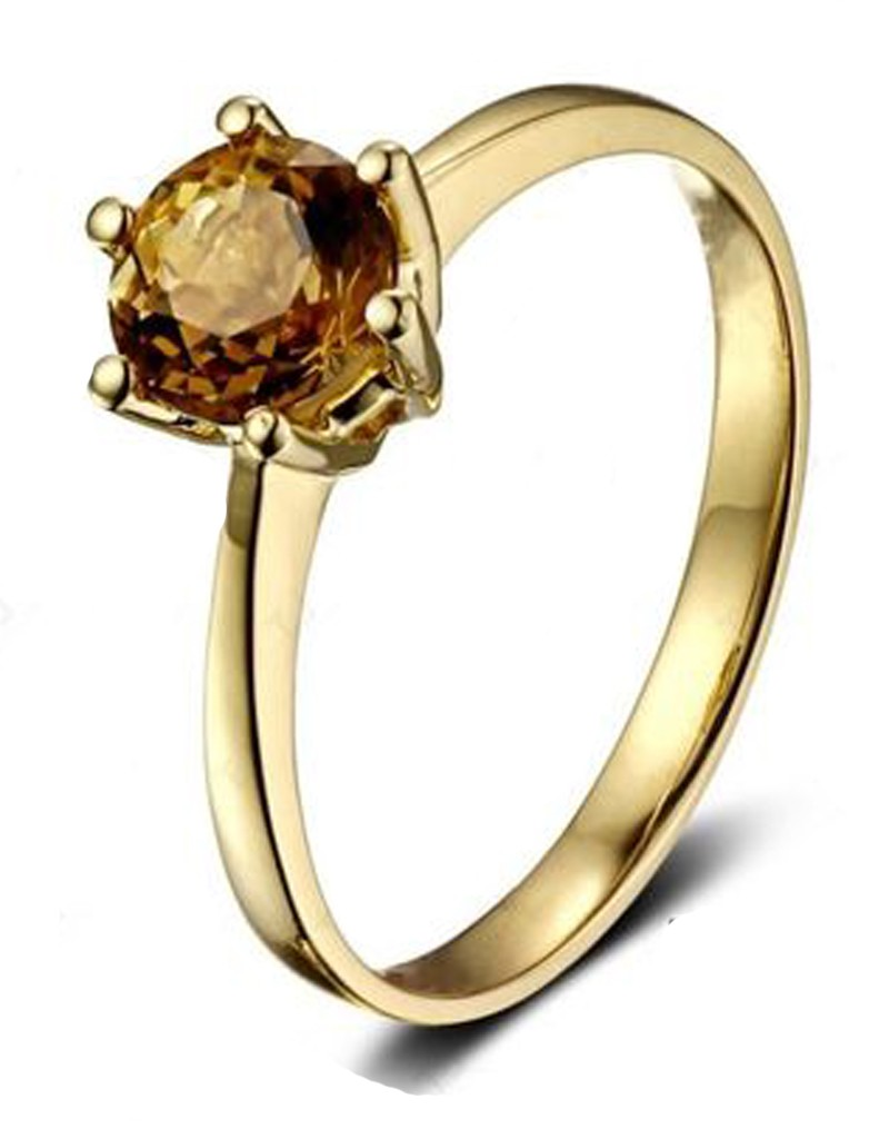 1 carat solitaire yellow sapphire engagement ring in. Black Bedroom Furniture Sets. Home Design Ideas