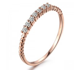 Beautiful Diamond Wedding Band on 18k Rose Gold