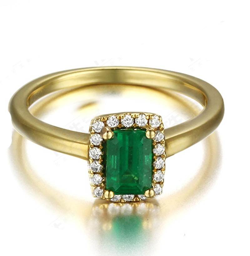 affordable 1 carat emerald and halo engagement