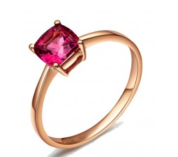 1 Carat Pink Sapphire Solitaire Gemstone Engagement Ring in Rose Gold