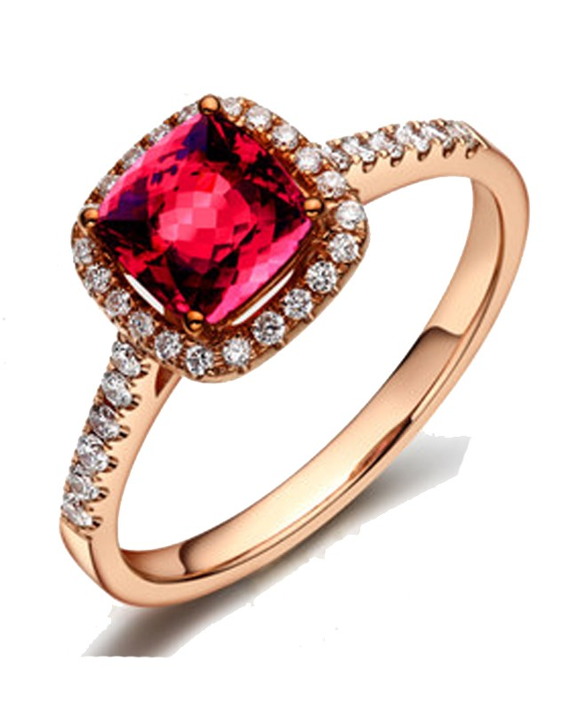 star halo deco antique art engagement rings ruby non platinum traditional ring diamond