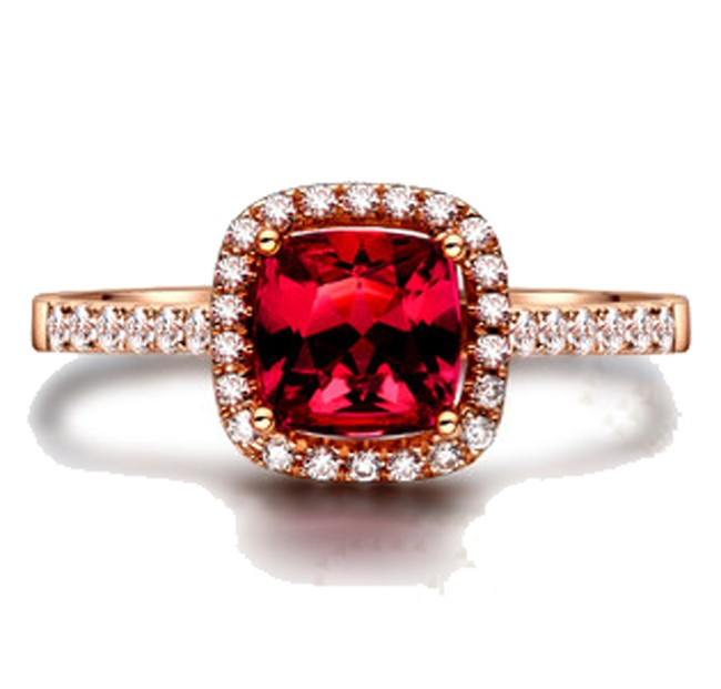 1 carat ruby and antique engagement ring in
