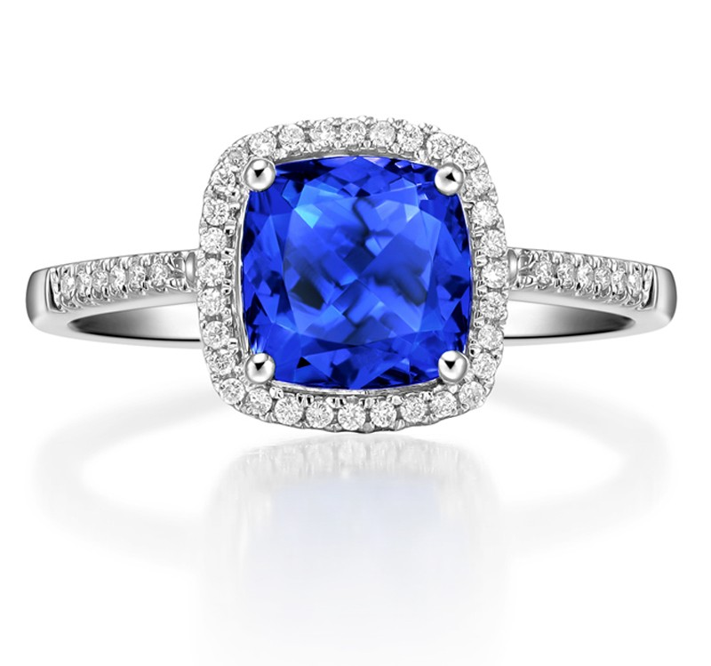 long sapphire il cushion cut listing engagement ring blue