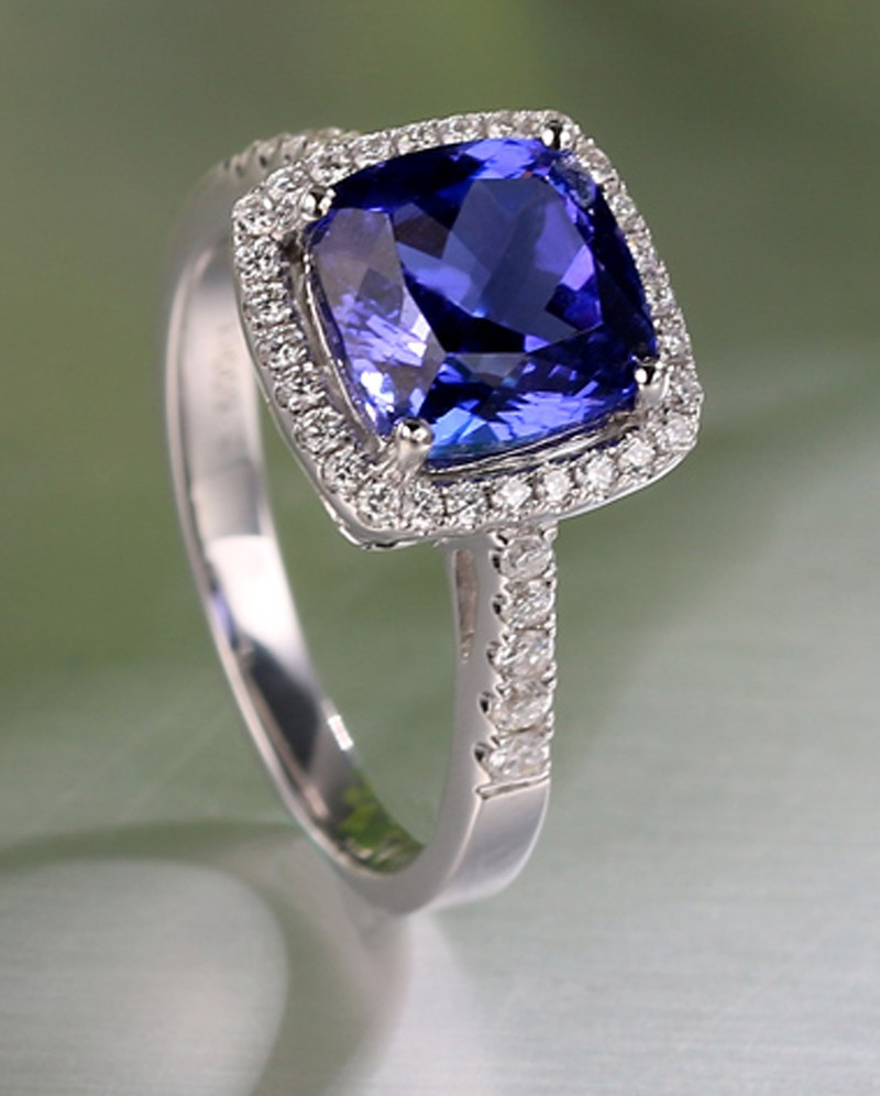 diamond ring wg petite halo nl jewelry pave gold blue in fd luminous white cushion sapphire french engagement cut with