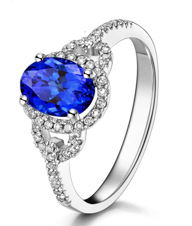 Just Perfect 1 Carat Blue Sapphire And Diamond Halo