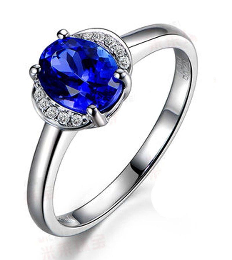 Half Carat Sapphire And Diamond Affordable Engagement Ring