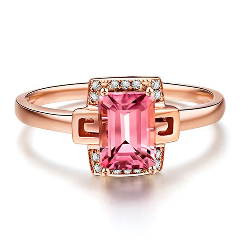 Designer 1 25 Carat Pink Sapphire and Diamond Gemstone Engagement Ring in Ros